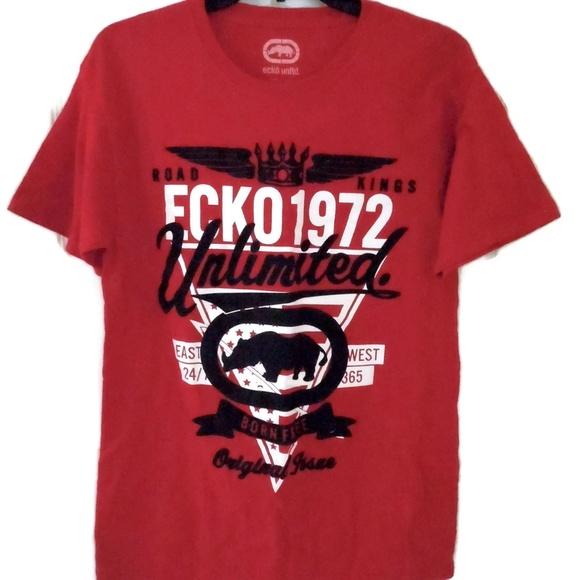 f3de5ff1d Ecko Unlimited Other - Ecko Men's Unlimited T-Shirt Red w/ Rhino Medium